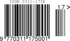 25 ISSN Barcode Images